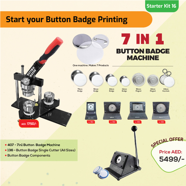 Button Badge Printing Business Starter Kit 16