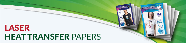 Laser Transfer Papers Banner