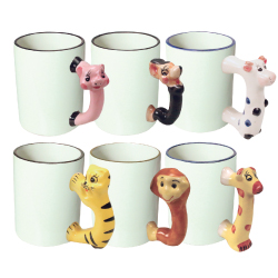 11 oz Sublimation Mug with Animal handle 190