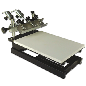 Adjustable Flat Screen Printing Table with Micro Registration