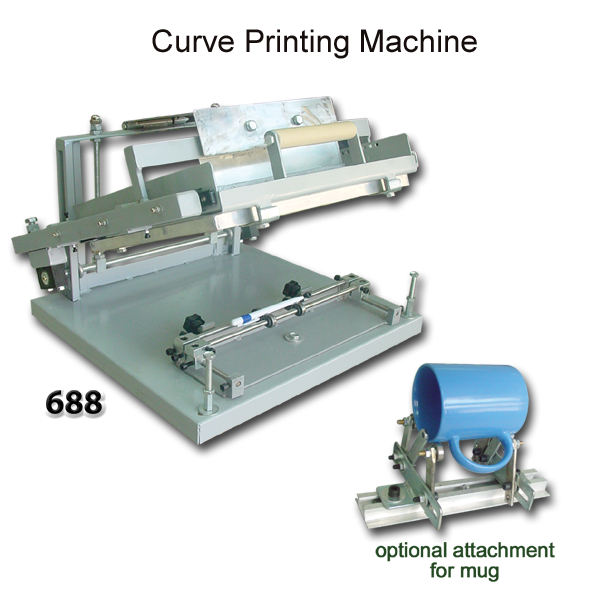 Curve Screen Printing Machine Silk Screen Printing