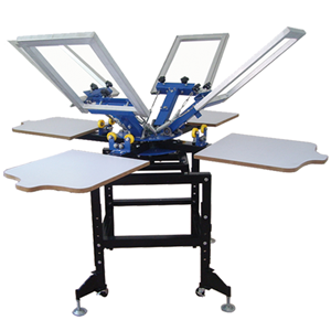 4 Colors 4 Stations Screen Printing Machine