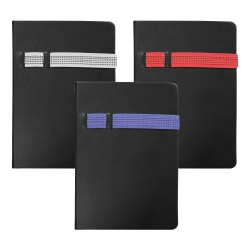 Black Cover A5 Size PU Notebooks MB-05-BKK