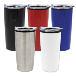 Double Wall Travel Mugs with Clear Lid TM-005
