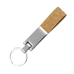 Metal Keychain with Cork Strap KH-5