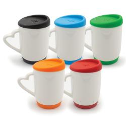 White Sublimation Mug with Silicone Cap & Base 146N