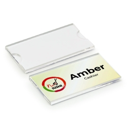 Reusable Acrylic Name Badge 75x40mm INB-04