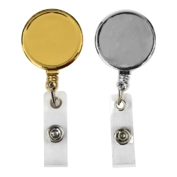 Round Badge Reel in Metal 124