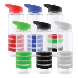 Sports Water Bottle with Straw TM-007