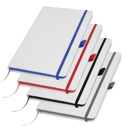 White Cover A5 Size PU Notebooks MB-05-WW