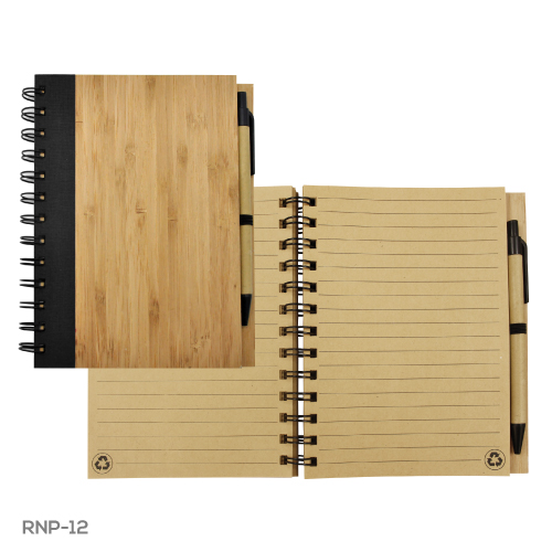 Bamboo Notebook with Pen RNP-12
