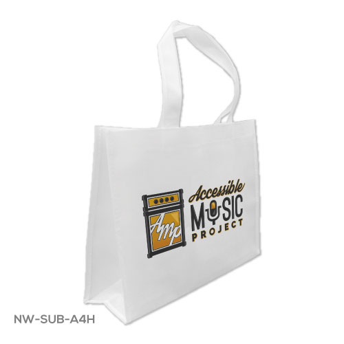 Branding A4 White Sublimation Bags NW-SUB