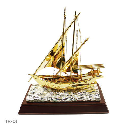 Dhow Trophy with Wooden Box TR-01