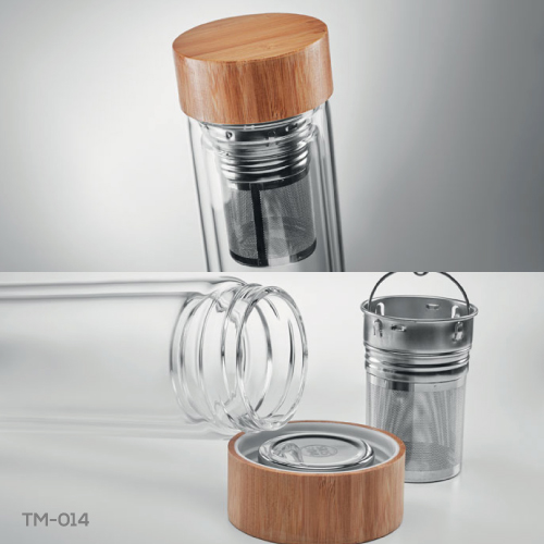 Glass and Bamboo Flask TM-014