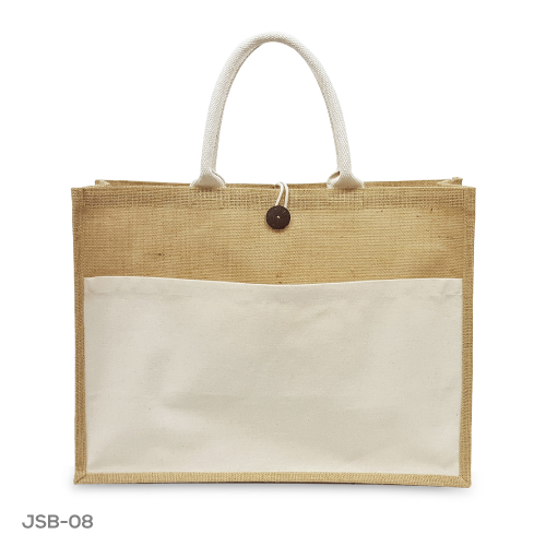 Jute Bags with Pocket JSB-08