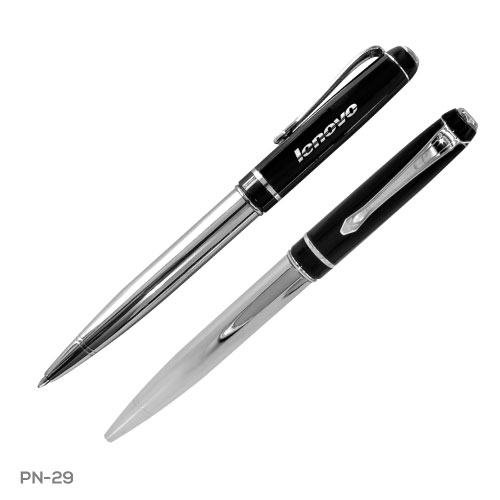 Black & Chrome Metal Pen PN29